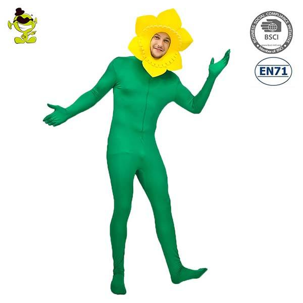 adult funny new design party sun flower carnival adult flower costume
