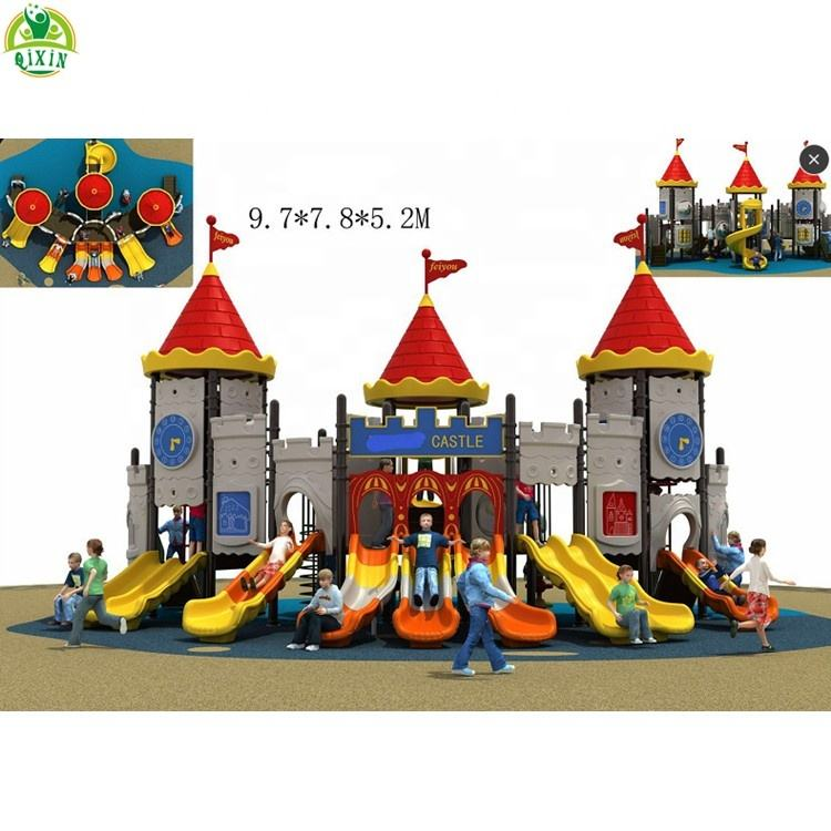China kindergarten outdoor play set kids playing equipment plastic outdoor playground kids garden toys outdoor games