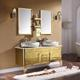 Waterproof double basin / sink Vanity Luxury Furniture Stainless Steel Bathroom Cabinet