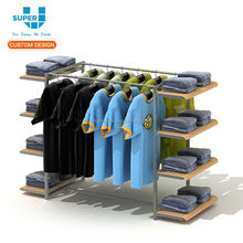 New Australian Flagship Store Freestanding Clothing Retail Display Rack