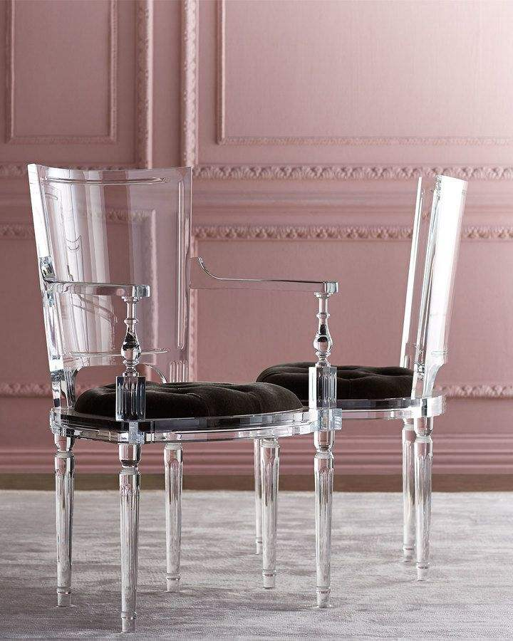Newly Lucite Clear Acrylic Dining Room Chairs Stool Living Room Modern Furniture Factories