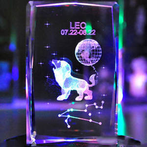 OEM photo engraved crystal cube for birthday and souvenir gifts