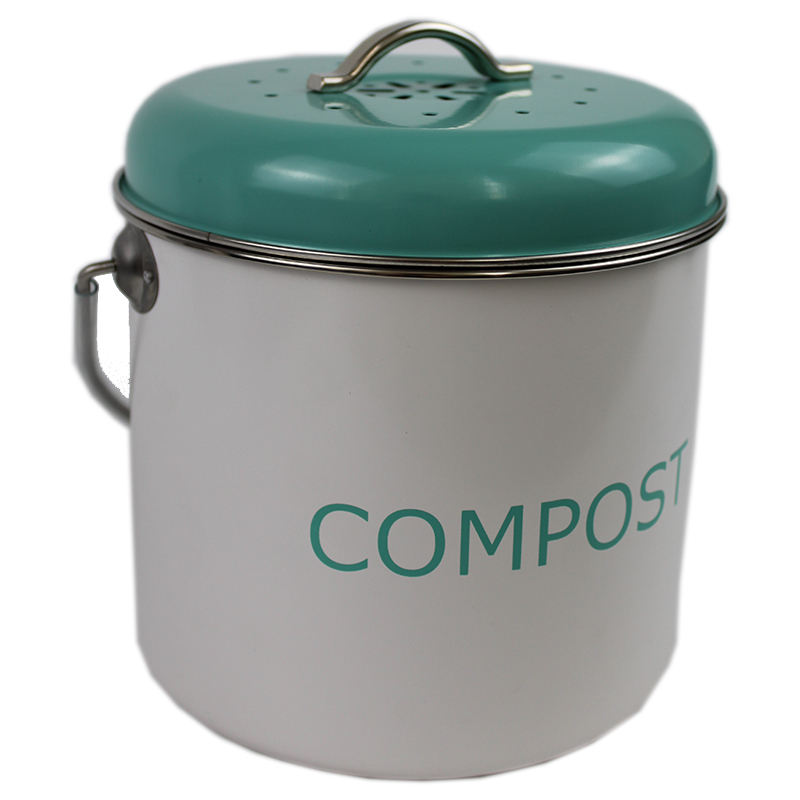 Hot Sale Stainless Steel Kitchen Compost Bin With Charcoal Filter