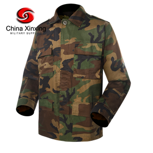 China Xinxing Woodland Camouflage BDU uniform 65% polyester 35% baumwolle Ripstop Woodland Military Uniform BD09