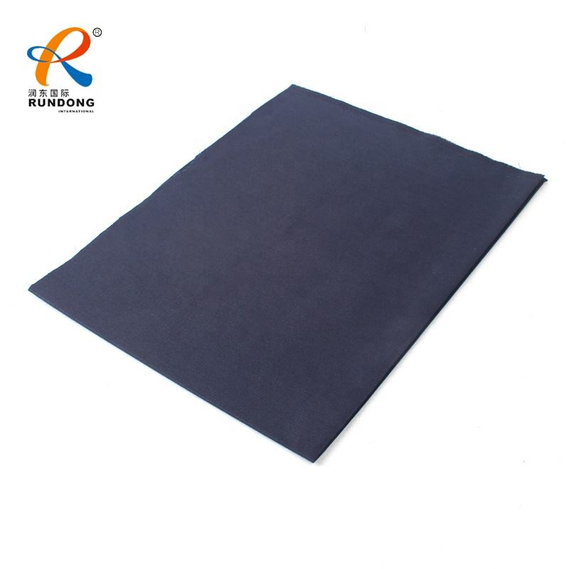 solid dyed 100% polyester chef workwear uniform fabric