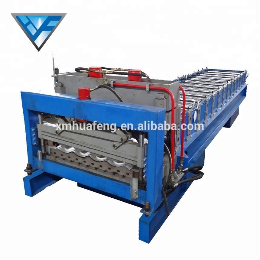 YX28-828(1035) Galvanized Tile and IBR Sheet Roll Forming Making Line
