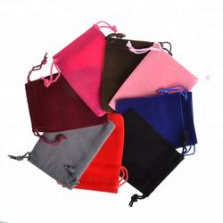 Wholesale Jewelry Velvet Pouch Gift Bags With Drawstring Jew