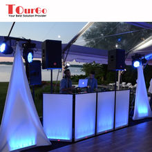 TourGo DJ Event Facade with Lights +Aluminum Frame Booth+Travel Bag+White Scrim