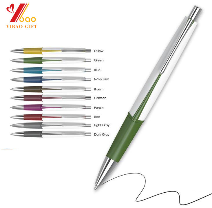 Wholesale promotional advertising gift custom printed logo plastic ballpoint pens