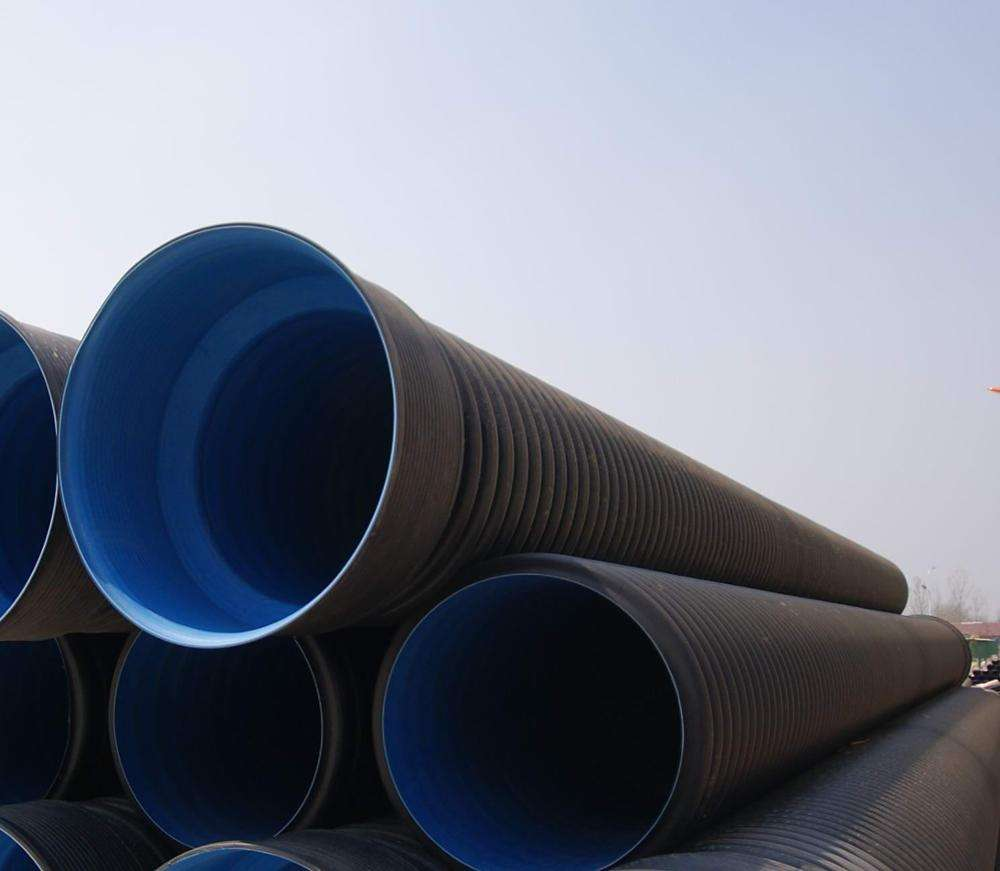 HDPE Double Wall Corrugated Pipe DWC HDPE Plastic Culvert Pipe Prices