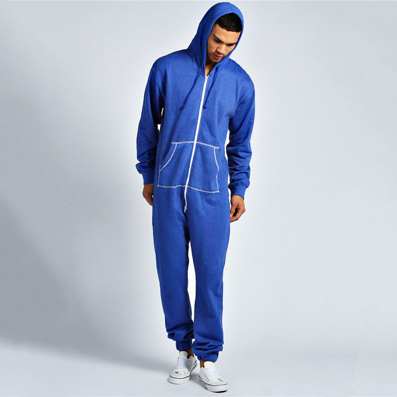 Factory design casual fleece hoodies pattern jumpsuits onesie adult