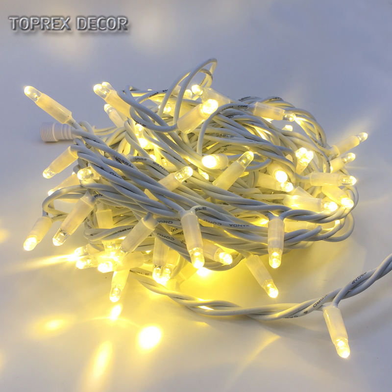 IP65 Rubber wire blister luces led garland string fairy outdoor christmas decorations lights