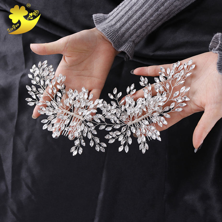Wholesale Elegant wedding crystal bridal hair accessories flower hair decorations