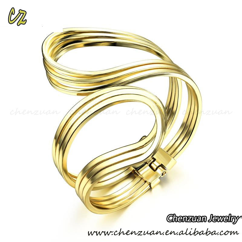 2018 Dubai or bijoux femmes 18 k solide or vague bracelet bracelet en gros