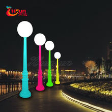LED pillar light for decoration of street/garden with different color changed