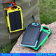 outdoor solar panel charging portable waterproof 5000 mah solar power bank for cell phone charger