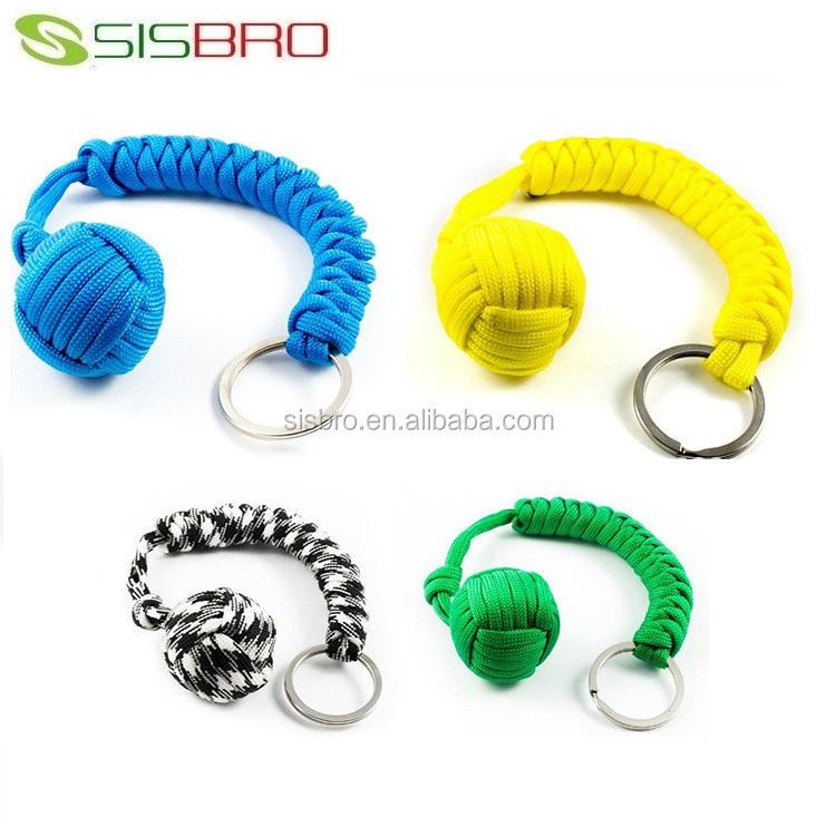 Wholesale Paracord Self Defense Monkey Fist Keychain Keyring Buy
