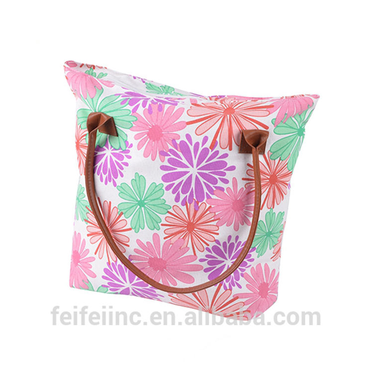 Customized indian handmade canvas tote bag