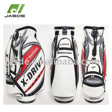 custom sizes make xiamen high quality smart junior new style white antique leather golf cart bags