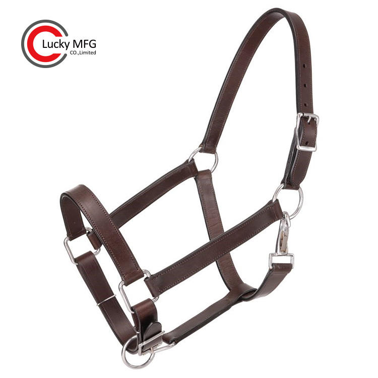 Wholesale High Quality Adjustable Leather Horse Halter