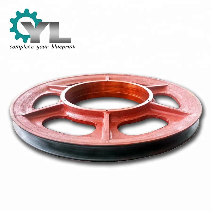 Sheave Wheel Cast Mining Industrial Conveyor Pulley Wheel Guide Roller