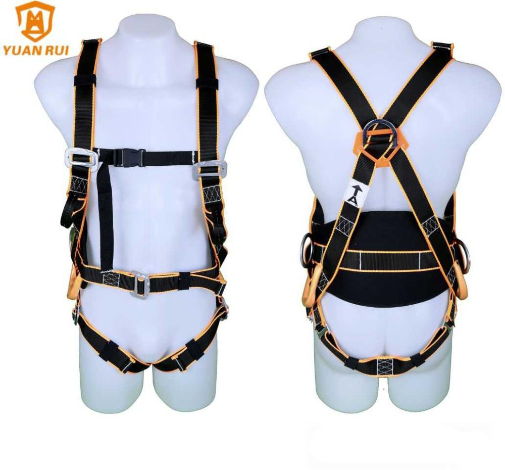 100% polyester 6 point fall arrest dorsal d-ring safety harness safety belt