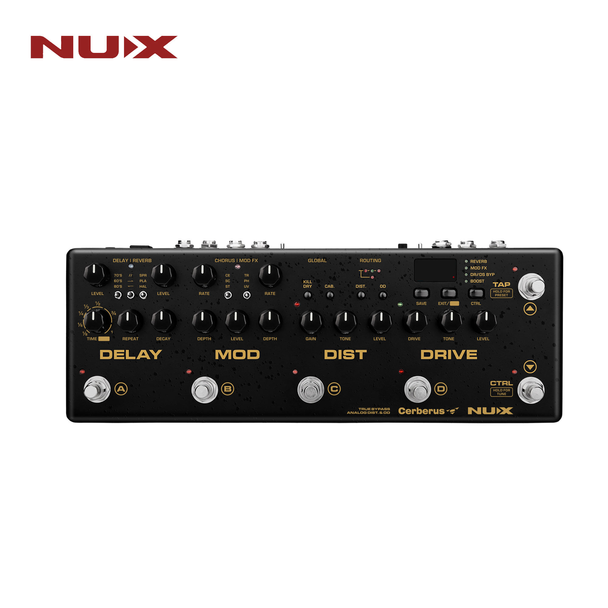 NUX-CERBERUS Integrated Effects and Controller Pedal Board Guitar Effect