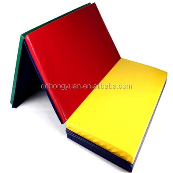 Manufacture PVC Leather XPE Folding Gym Mat/Gymnastics Landing Mats