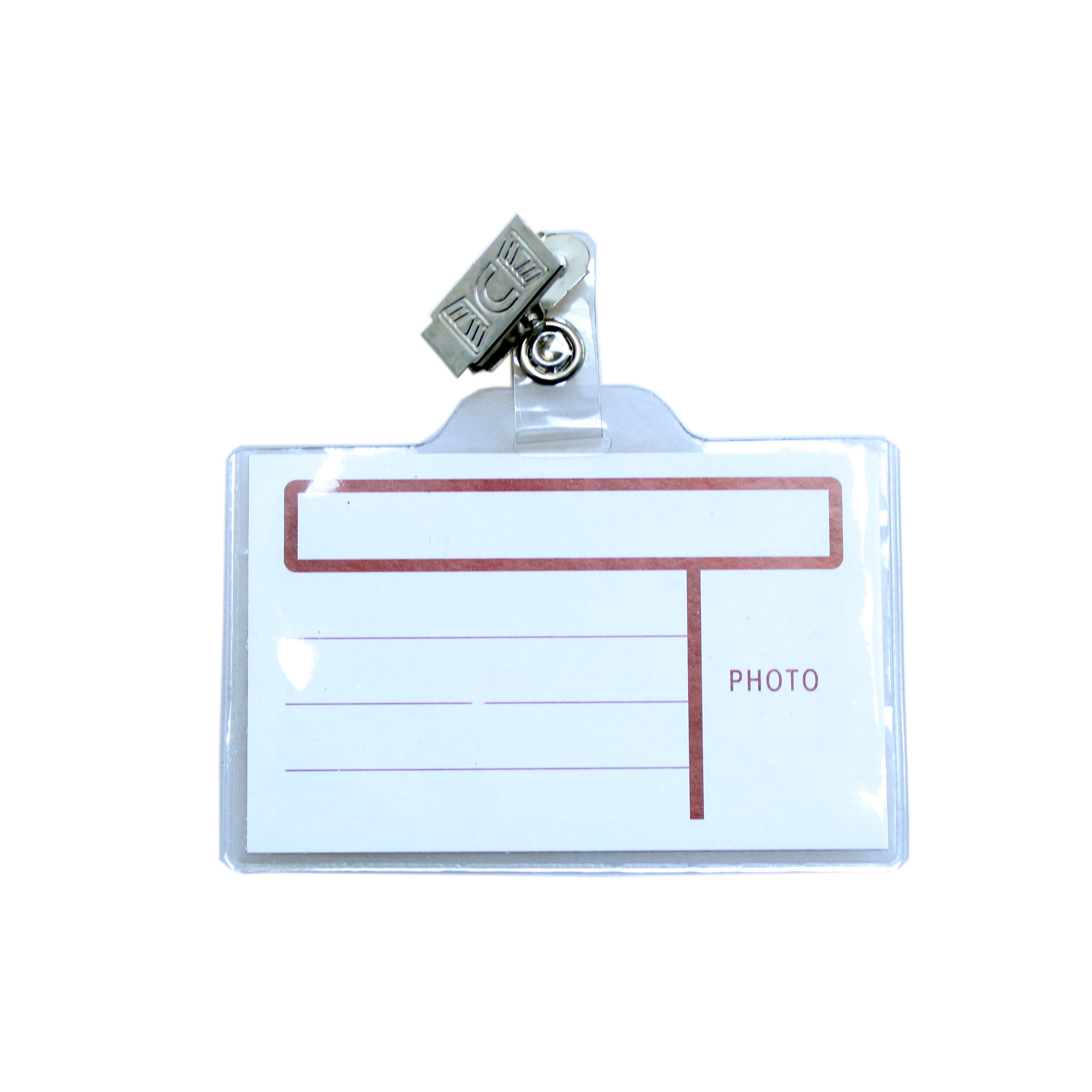 Plastic ID Card Badge Holder Business ID Name Tag Badge Key Badge Holder with Clip