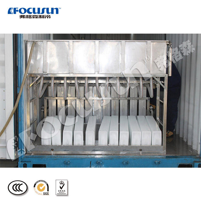 Containerized industrial block ice making machine for sale