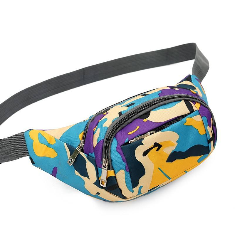 Colorful Printing Portable Fanny Pack China Supplier Waist Bag for Outdoor Traveling Cycling