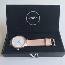 Top Quartz Montre Classical Blanche Light Pink Lady Womens Watch Insider With Gift Box