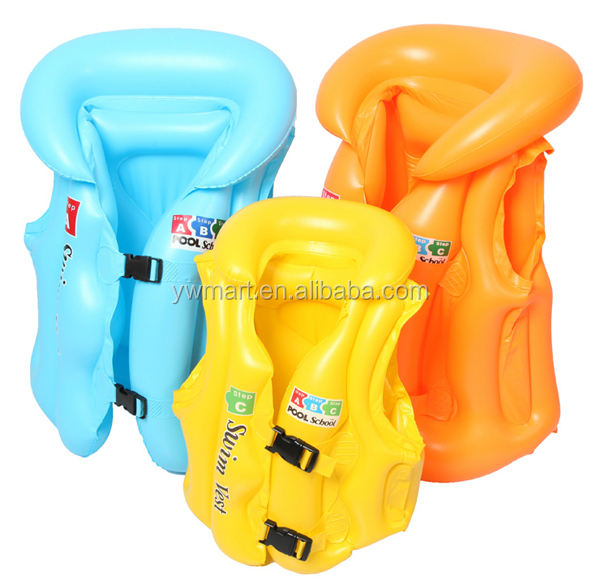 Wholesale and custom ABC PVC Swimming inflatable life vest and life jacket