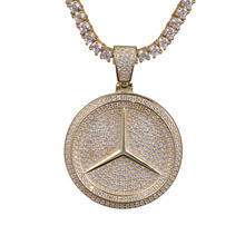 Custom Luxury Car Logo Iced Out 14k Gold Finish Pendant