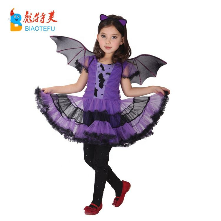 hotsale halloween bat girl fancy dress costumes