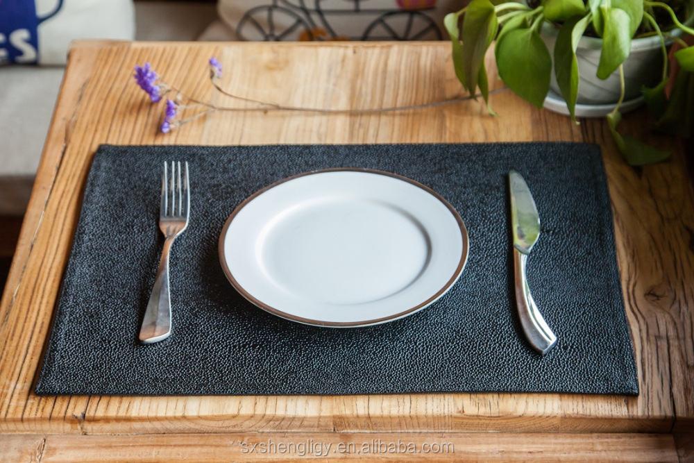 PVC Inci gourami deri yeri masa dekorasyon plaka yemek mat