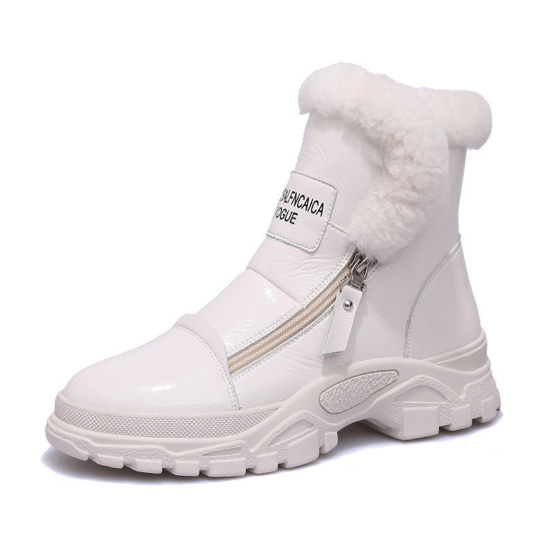 hot sale exquisite workmanship warm fur lining women casual elevator increase the height 4cm sports sneaker winter boots