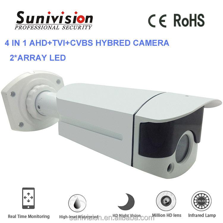 Sistema de seguridad doméstico lente estándar M12 3.6 / 6/8/12 / 16m m lente 2 ARRAY LED 4 en 1 AHD + CVI + TVI + CVBS cámara de