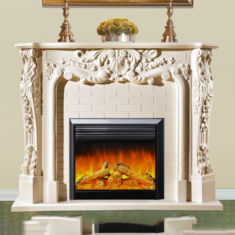 Wholesale Hand Carved Western Style Home Decorative Resin Fireplace Mantel