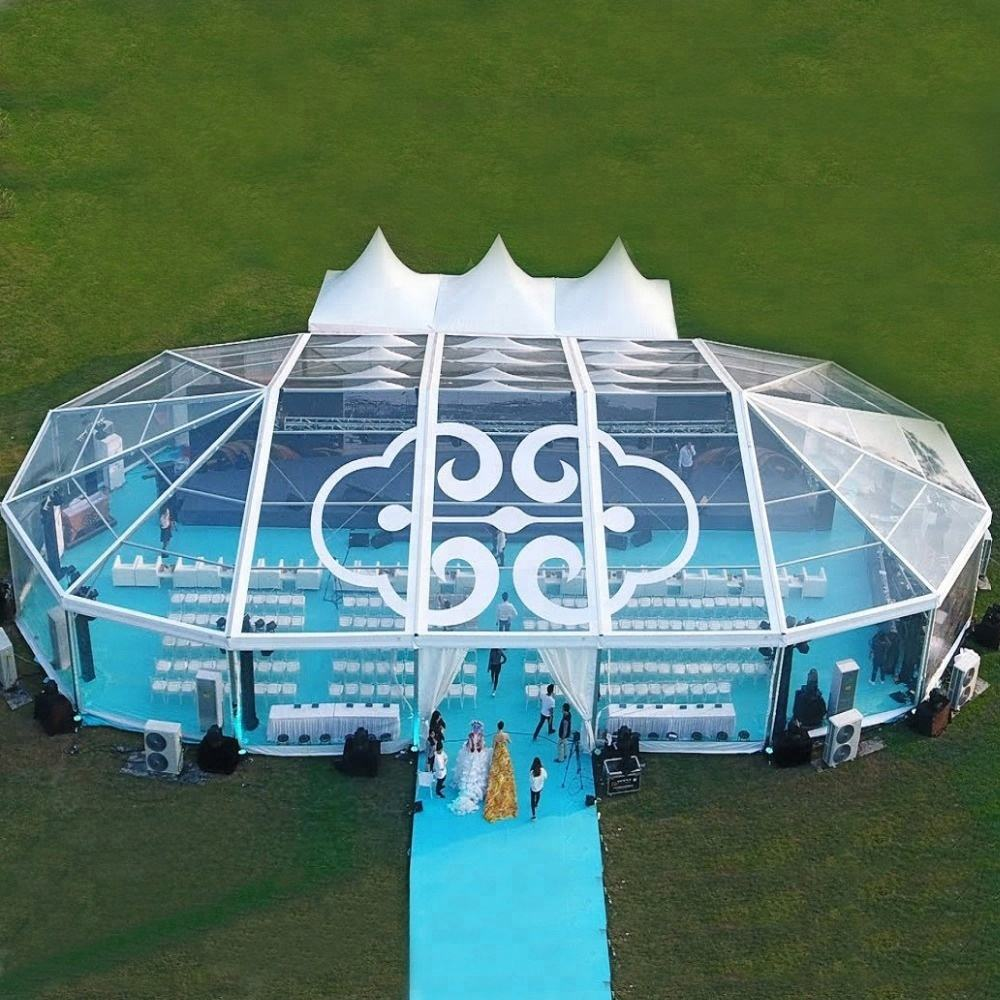 Retractable PVC material big party tent for outdoor