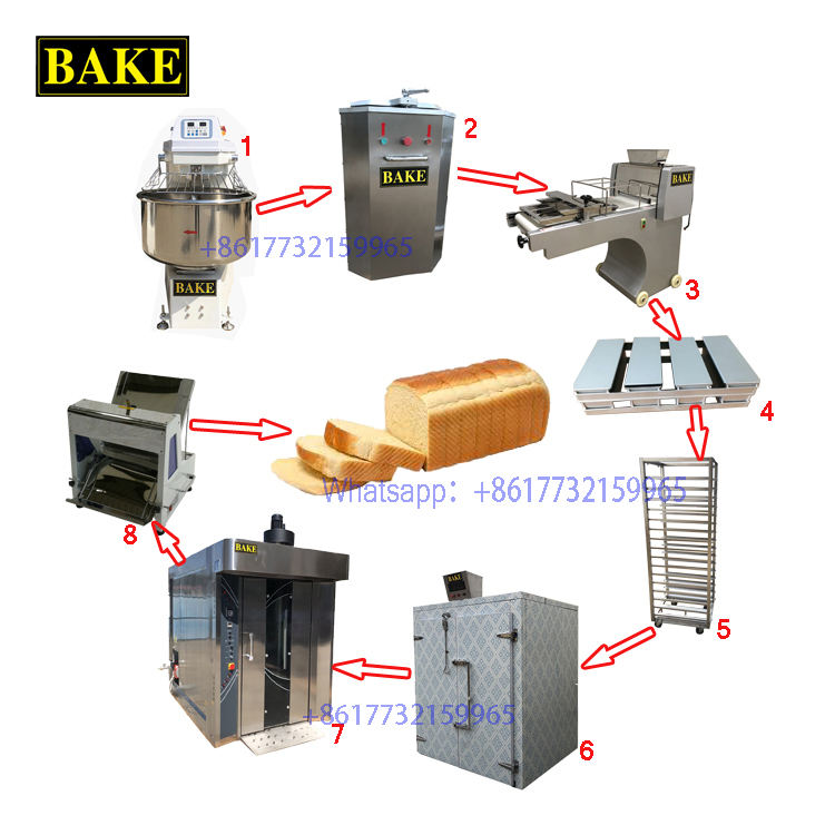 Cheap Price Bread Making Line Toast Bread Machine Loaf Toast Bread Production Line