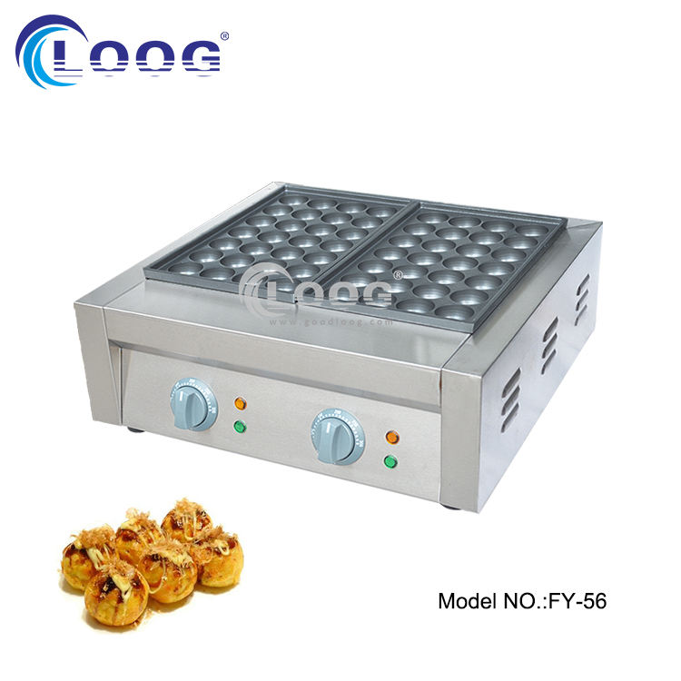 High quality fast food fish ball electric dual plate takoyaki cooker machine
