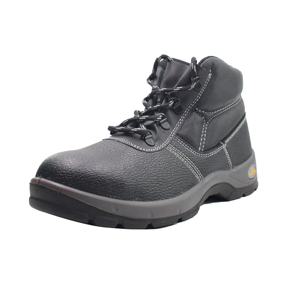 1618mm genuine leather men high cut S3SRC delta plus safety shoes anti slip and anti static anti puncture