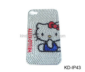 Hello kitty bling berlian kasus hard cover