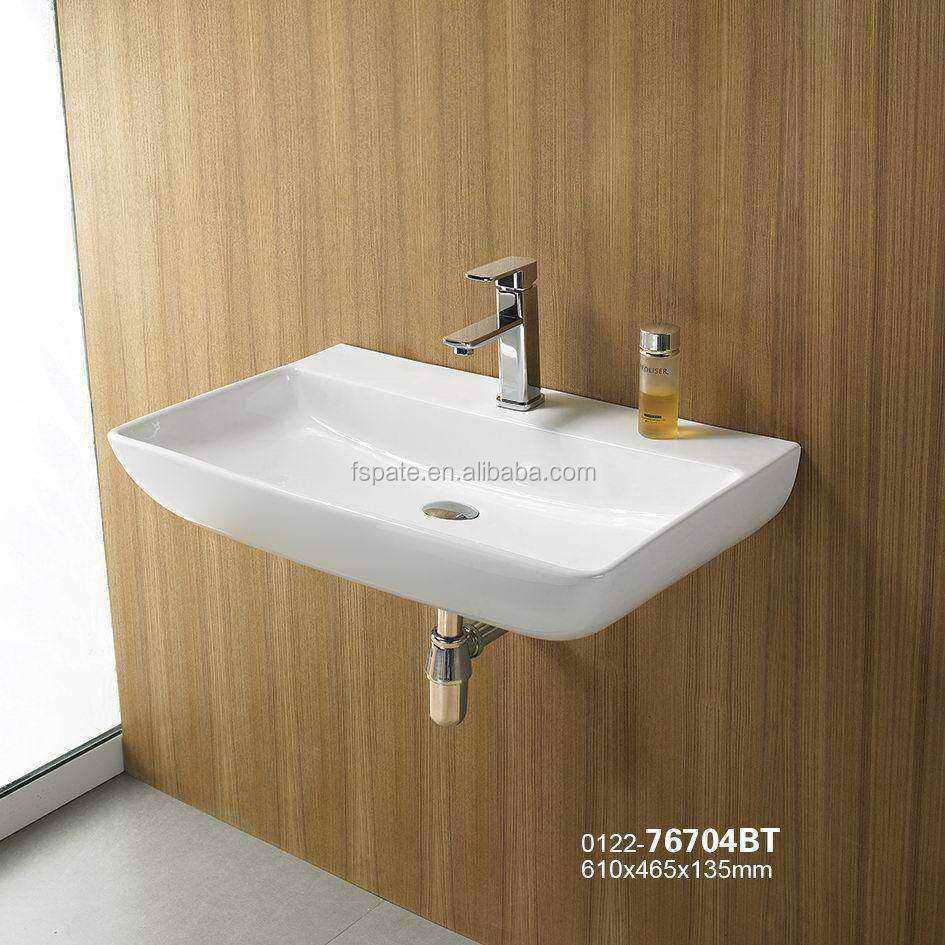 new lavatory Australia design wall hung basin bathroom ceramic wall wash basin