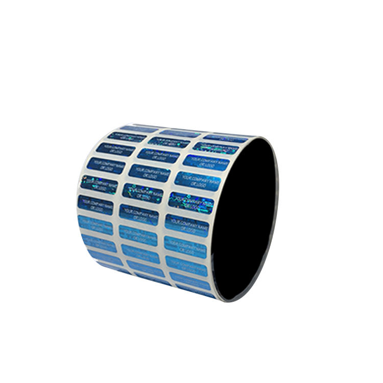 Security Clear Adhesive Custom Roll Label Sticker
