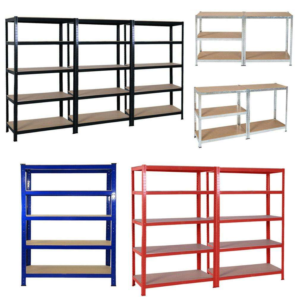 Cheap Light Duty Garage shelving 5 tier boltless storage racking shelves unit