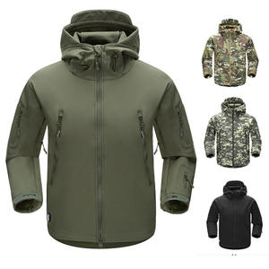 JACKETOWN Oem outdoor mens custom logo waterproof softshell coat tactical military soft shell jackets