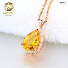 natural topaz wholesale fashion 925 silver big stone pendant design