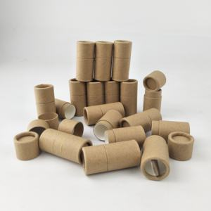Empty wholesale paper cardboard push up paper tube for lip balm/deodorant tubes